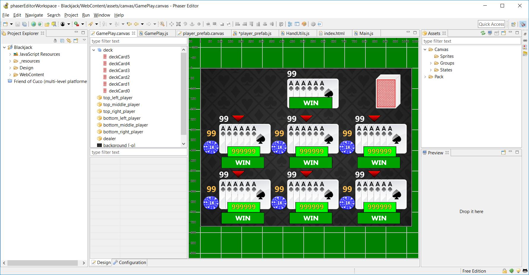 Thunderjack! (HTML5 Version) and Phaser Editor – Gameplay Coder